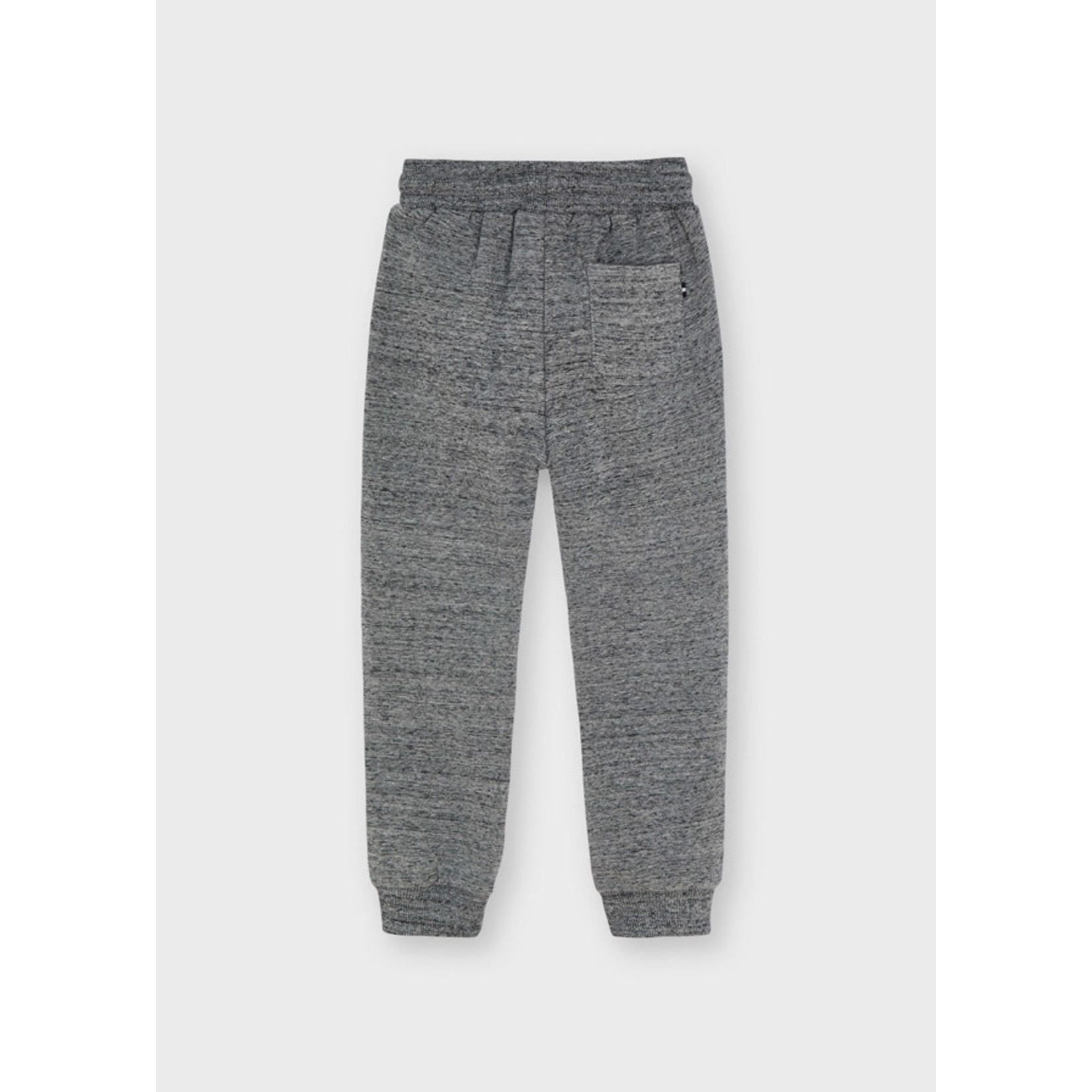 Mayoral Basic Cuffed Fleece Trousers, Gray