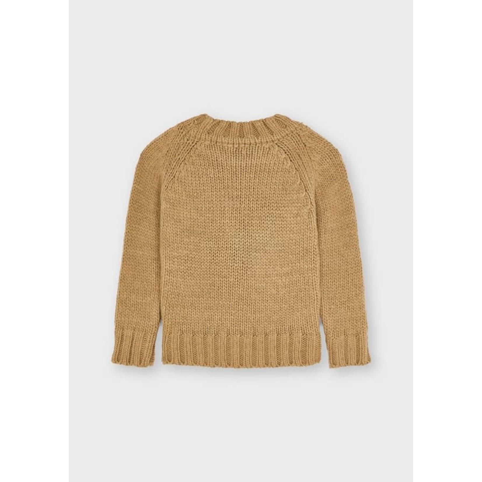 Mayoral Braided Sweater, Hazelnut