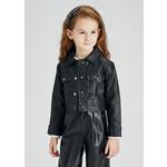 Mayoral Leather Jacket, Black