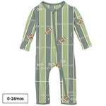 Kickee Pants Print Coverall with Zipper in Football