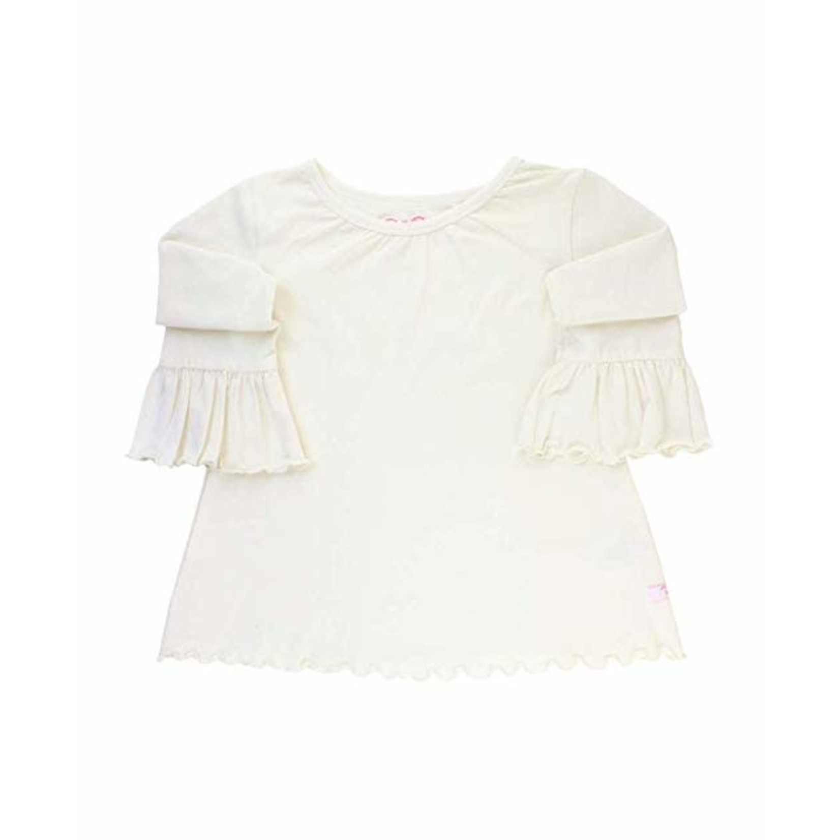 RuffleButts Baby/Girls Knit Belle Top, Ivory