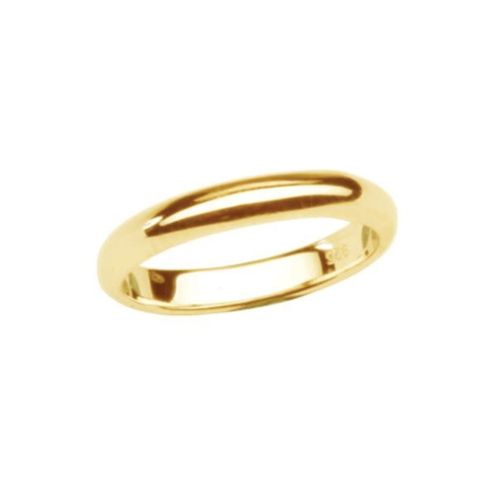 Cherished Moments Baby Ring (Size 1) 14K Gold-Plated - 2mm Band