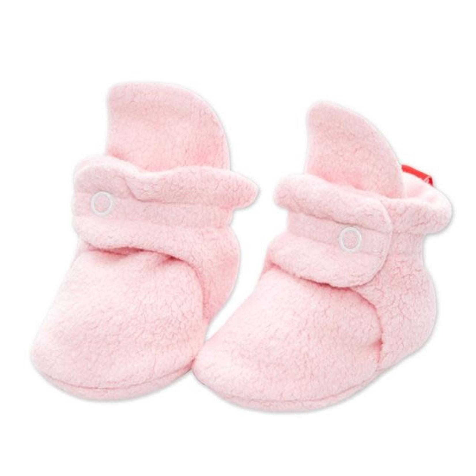 Zutano Cozie Fleece Bootie - Baby Pink 6M