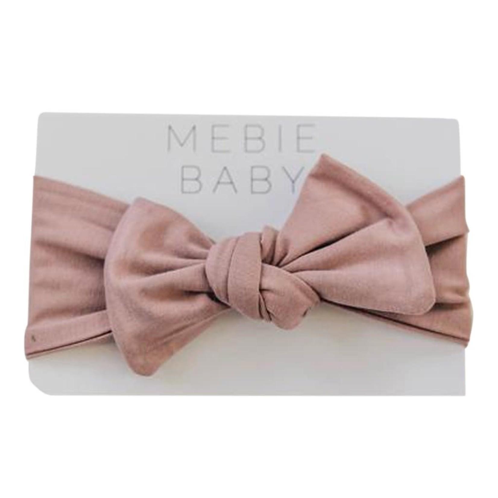 Mebie Baby Dusty Rose Ribbed Head Wrap