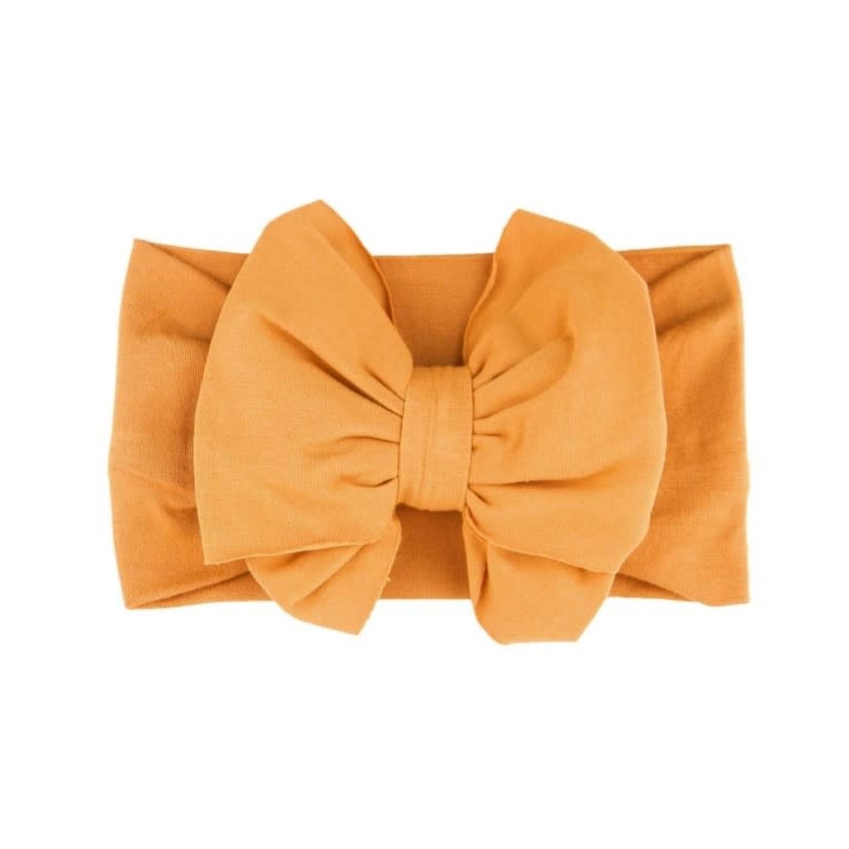 RuffleButts Honey Big Bow Headband