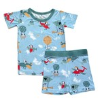 Little Sleepies Two Piece Pajama Set Fly Away With Me - Short Sleeve/Shorts