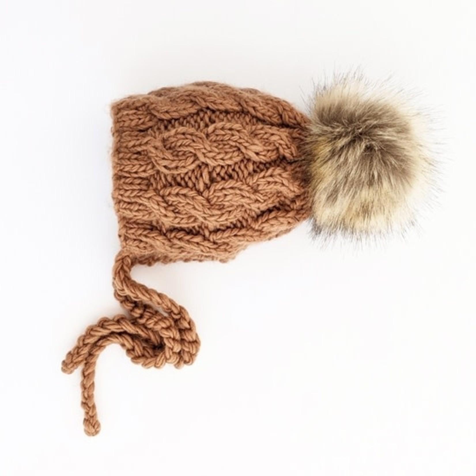 Huggalugs Aspen Pecan Cable Knit Bonnet