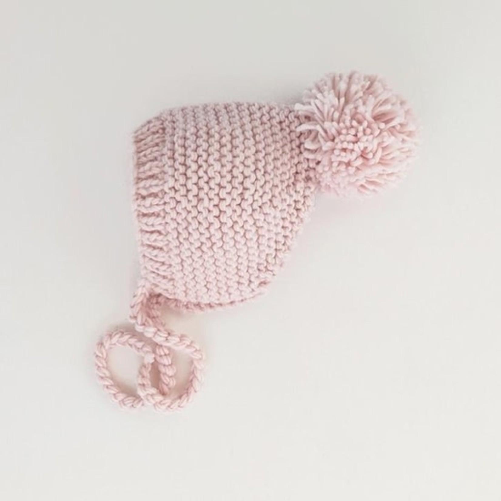 Huggalugs Blush Garter Stitch Knit Bonnet