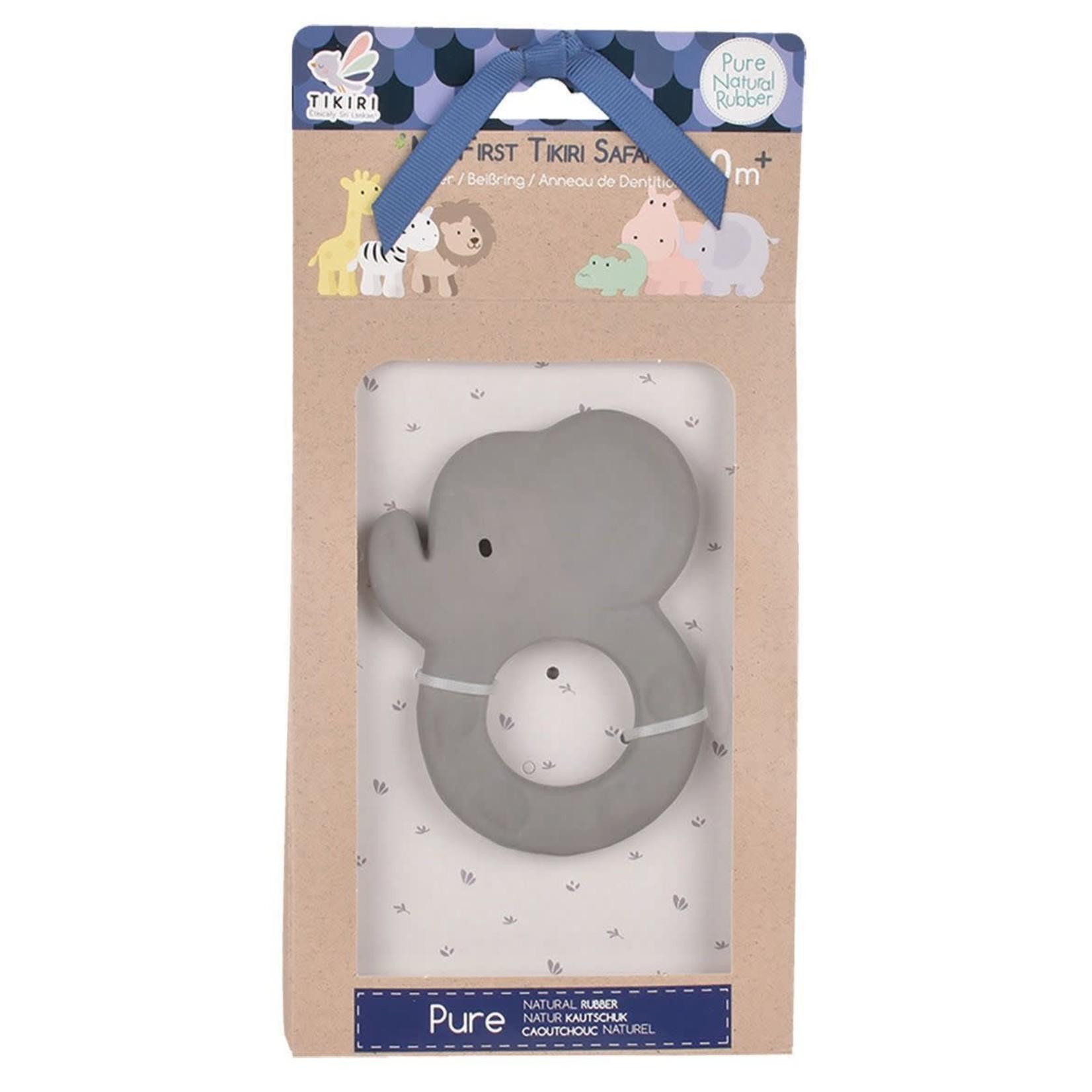 Tikiri Toys Elephant - Natural Rubber Teether