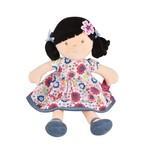 Tikiri Toys Lilac Doll - Black Hair with Blue Floral Dress