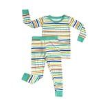 Little Sleepies Two Piece Pajama Set Summer Stripe