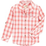 Me + Henry Atwood Woven Shirt Coral/White Plaid