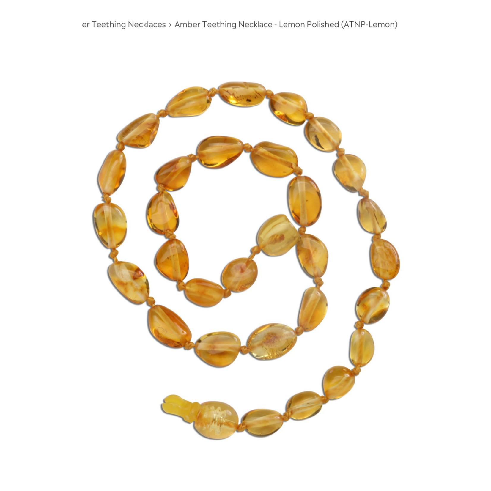 Cherished Moments Baltic Amber Beads - Lemon Polished, MED (12 - 12.5)