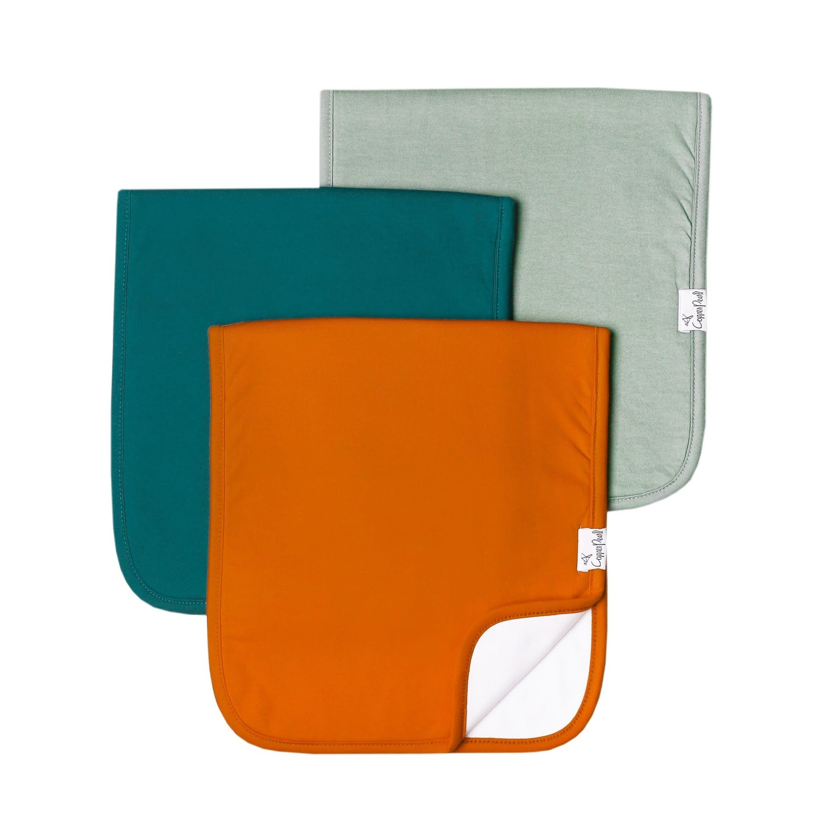 Copper Pearl Burp Cloths (3 pack) - Blaze