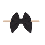 Emerson and Friends Black Cotton Bow Baby Headband