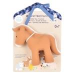 Tikiri Toys Horse - Natural Rubber Teether, Rattle & Bath Toy