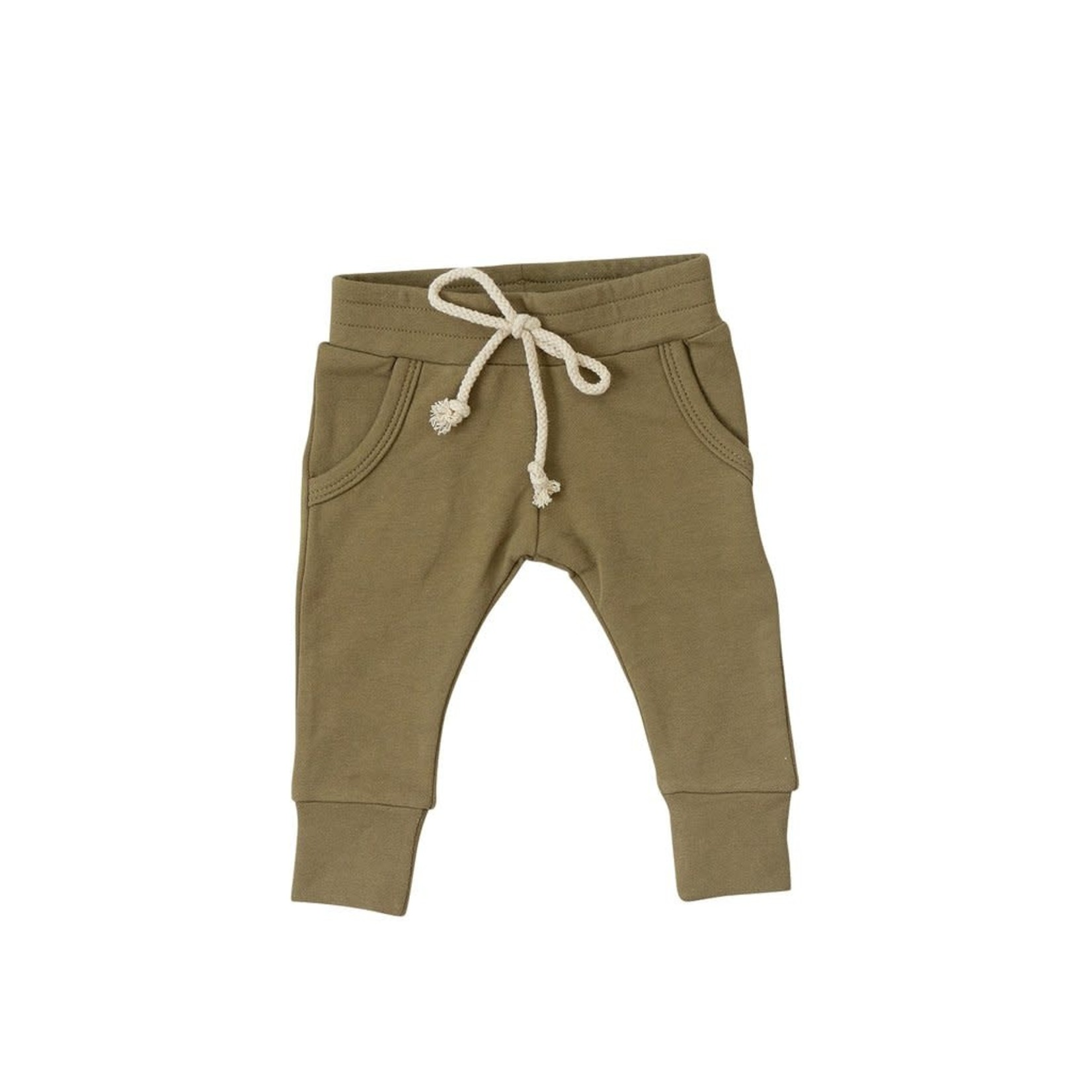 Mebie Baby French Terry Joggers - Fern
