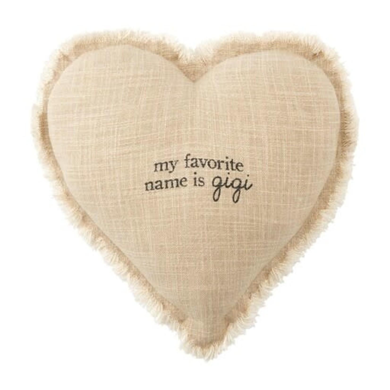 Mud Pie Grandma Heart Pillow, Gigi