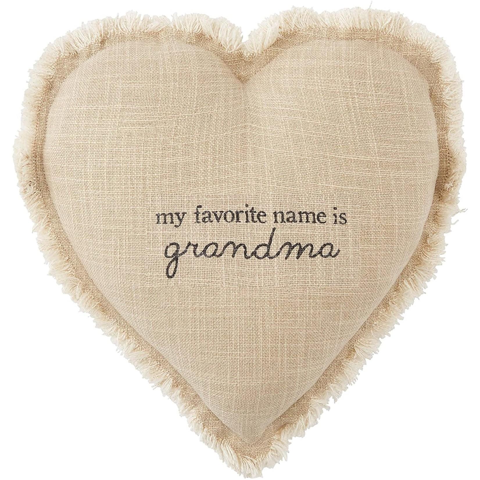 Mud Pie Grandma Heart Pillow,  Grandma