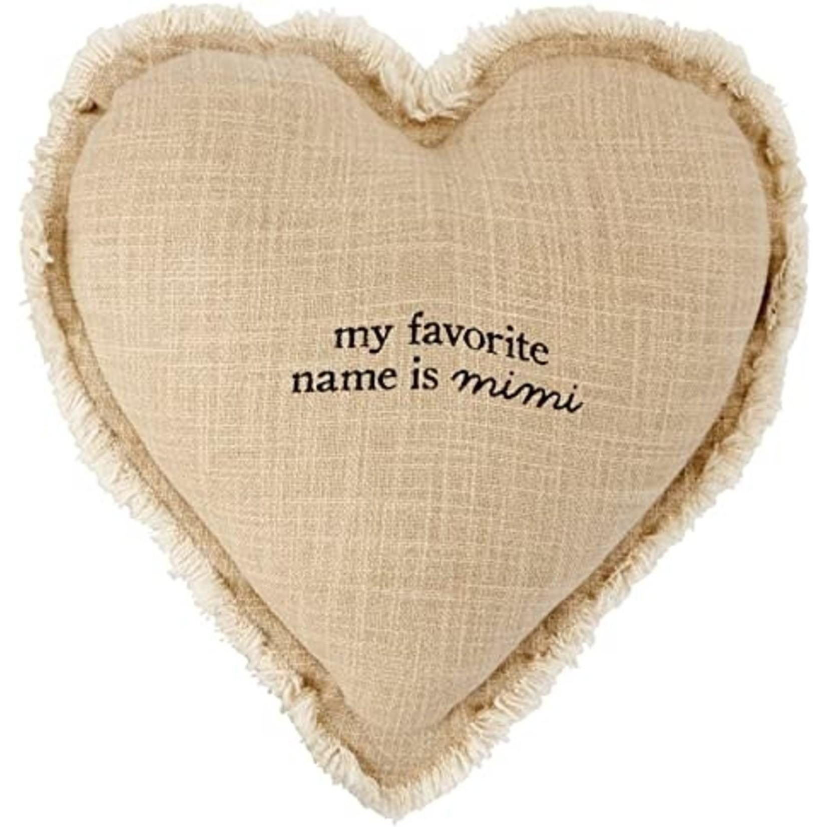 Mud Pie Grandma Heart Pillow, Mimi