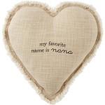 Mud Pie Grandma Heart Pillow, Nana