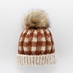 Huggalugs Sienna Buffalo Check Pom Pom Beanie Hat