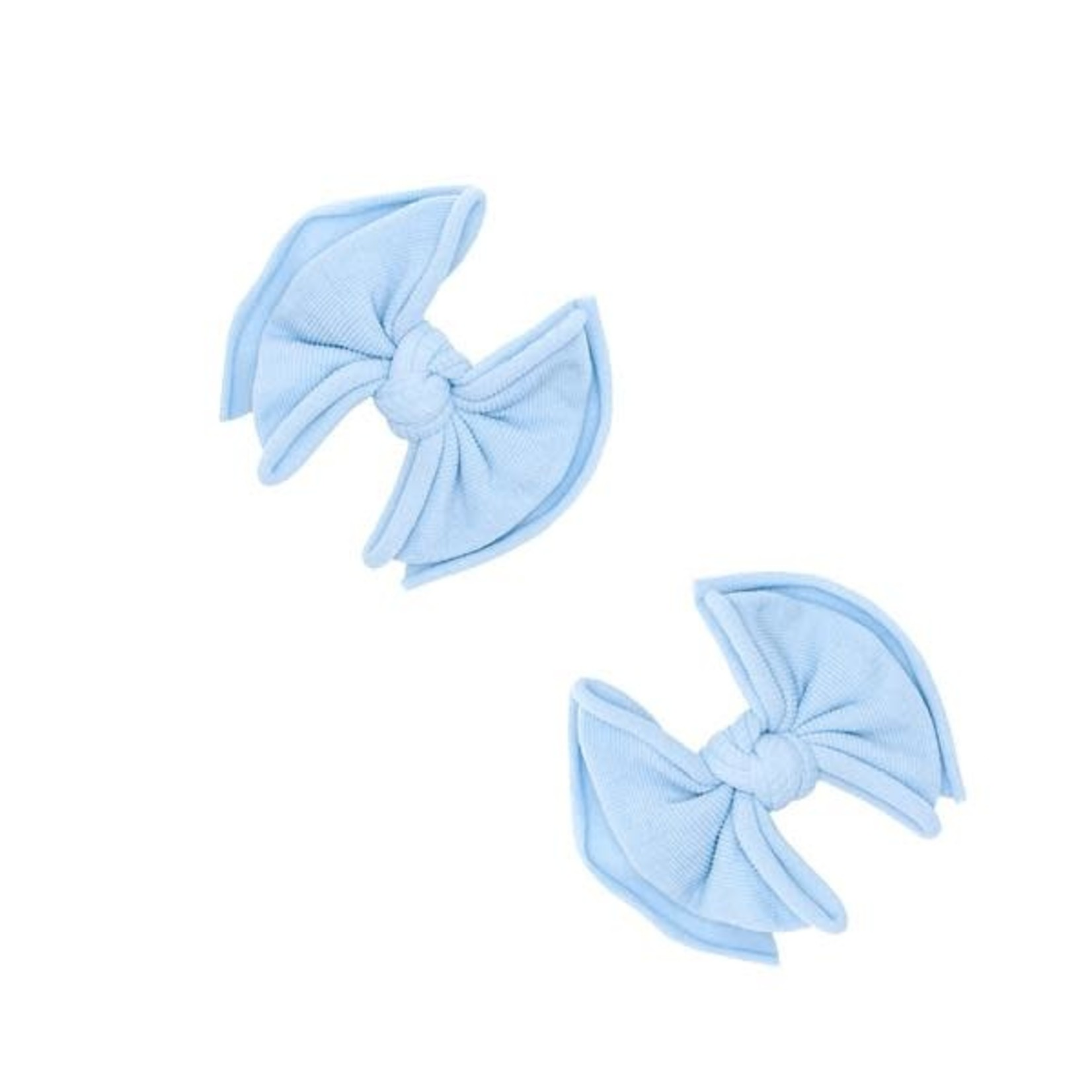 Baby Bling Bows 2PK BABY FAB CLIPS: dusty blue