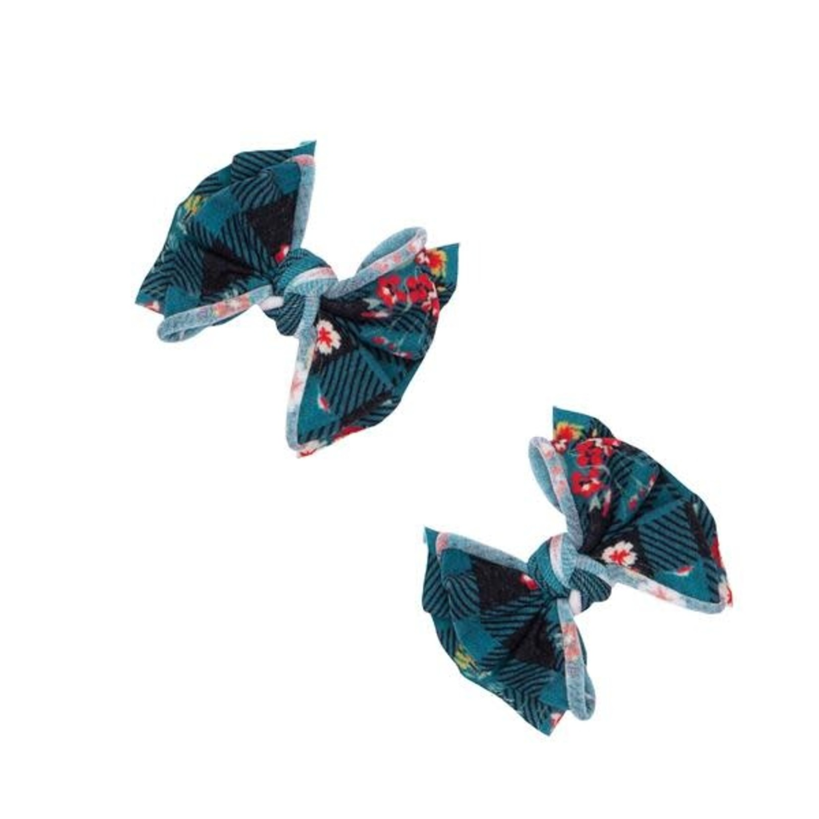 Baby Bling Bows 2PK PRINTED BABY FAB CLIPS: floral plaid