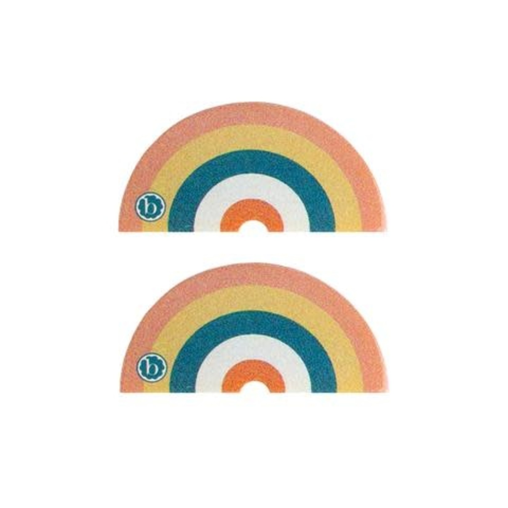 Baby Bling Bows 2PK RAINBOW CLIPS: sunset