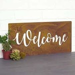 Prairie Dance Welcome Wall Plaque Rust Finish