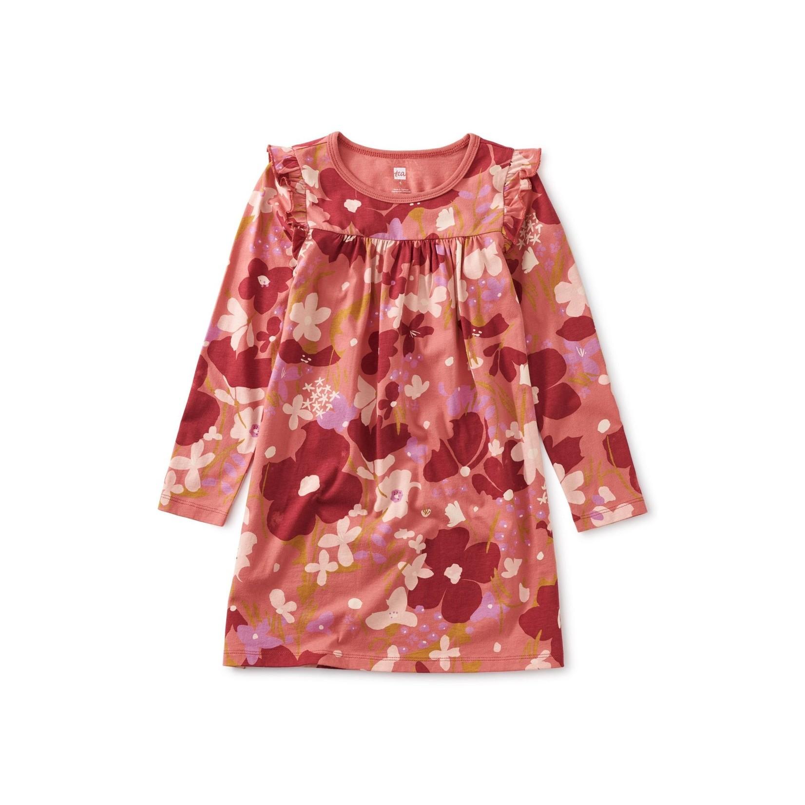 Tea Collection Bold Shoulder Dress - Tossed Floral
