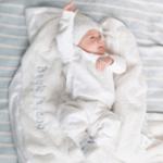 Saranoni Receiving Blanket (30'' x 40'') White Lush Satin Border