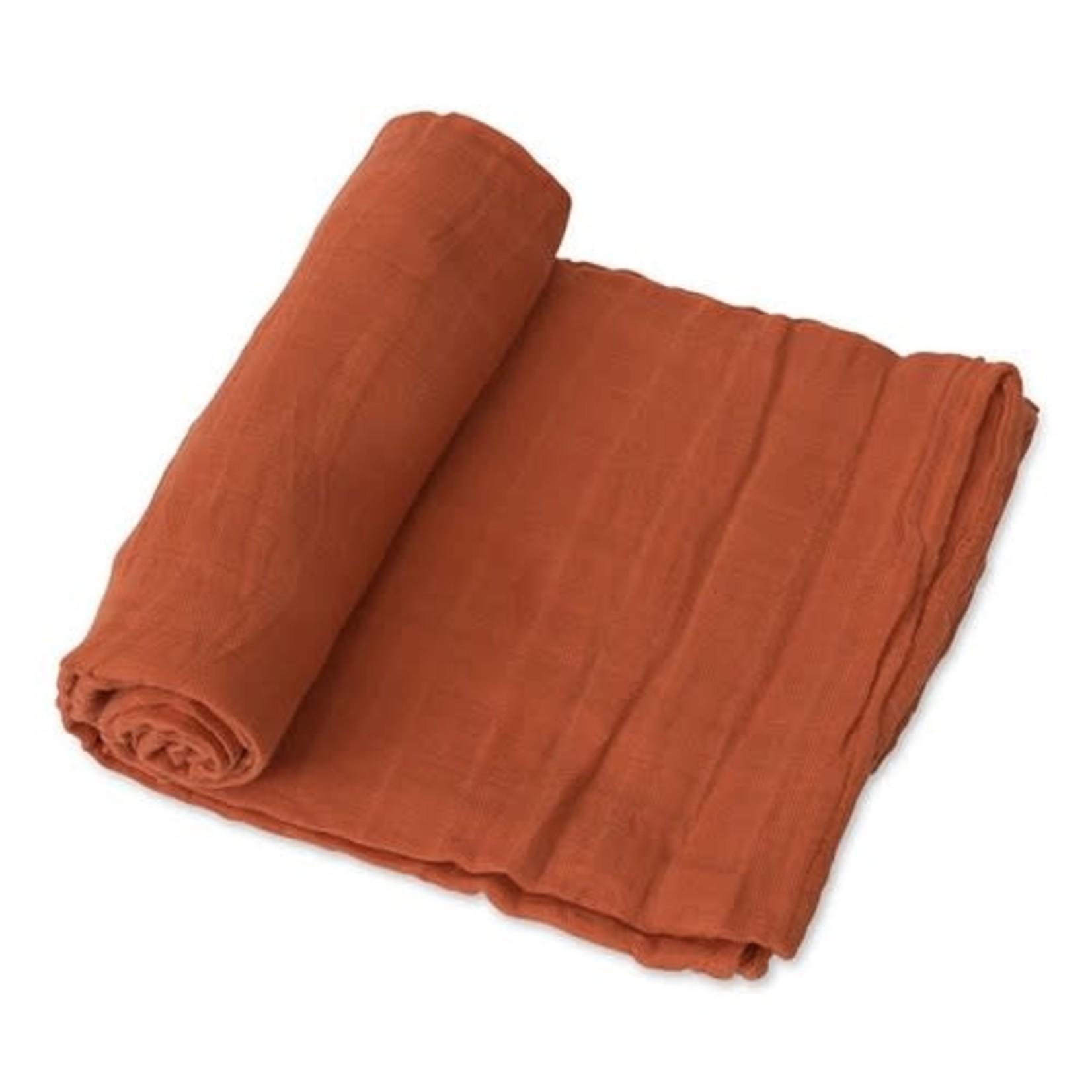 Little Unicorn Cotton Swaddle - Solid Rust
