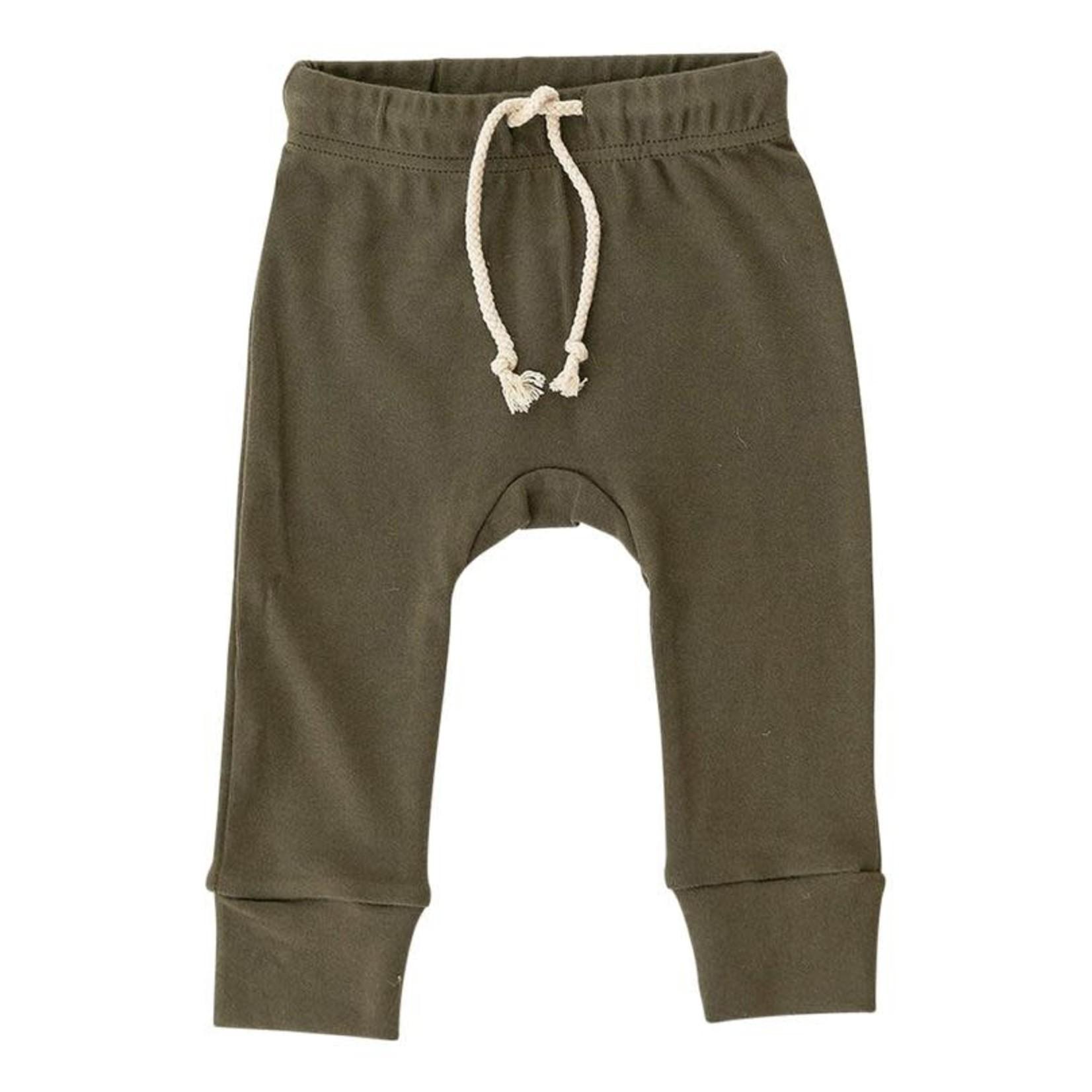 Mebie Baby Cotton Olive Jogger Pants