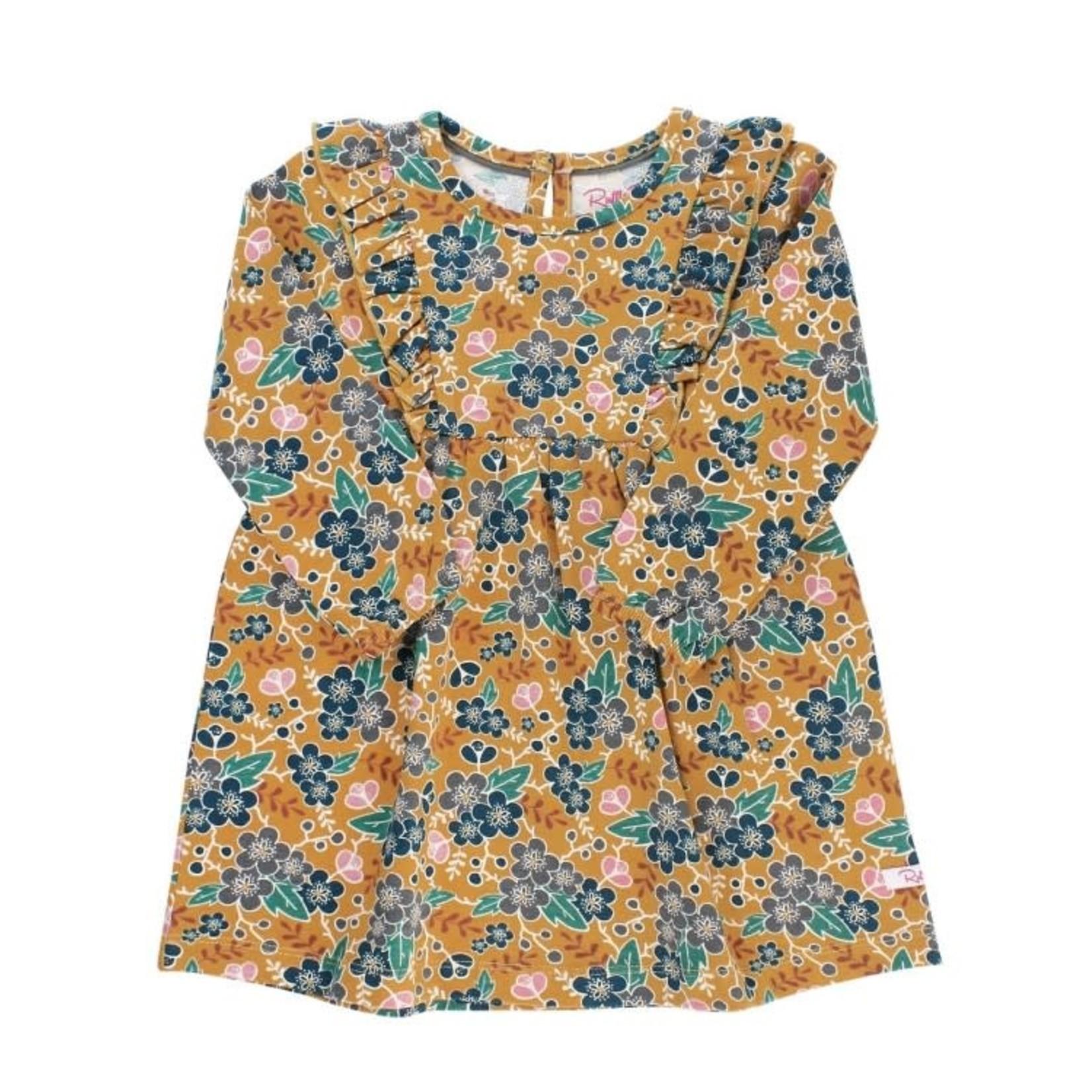 RuffleButts Honey Grove Waterfall Dress