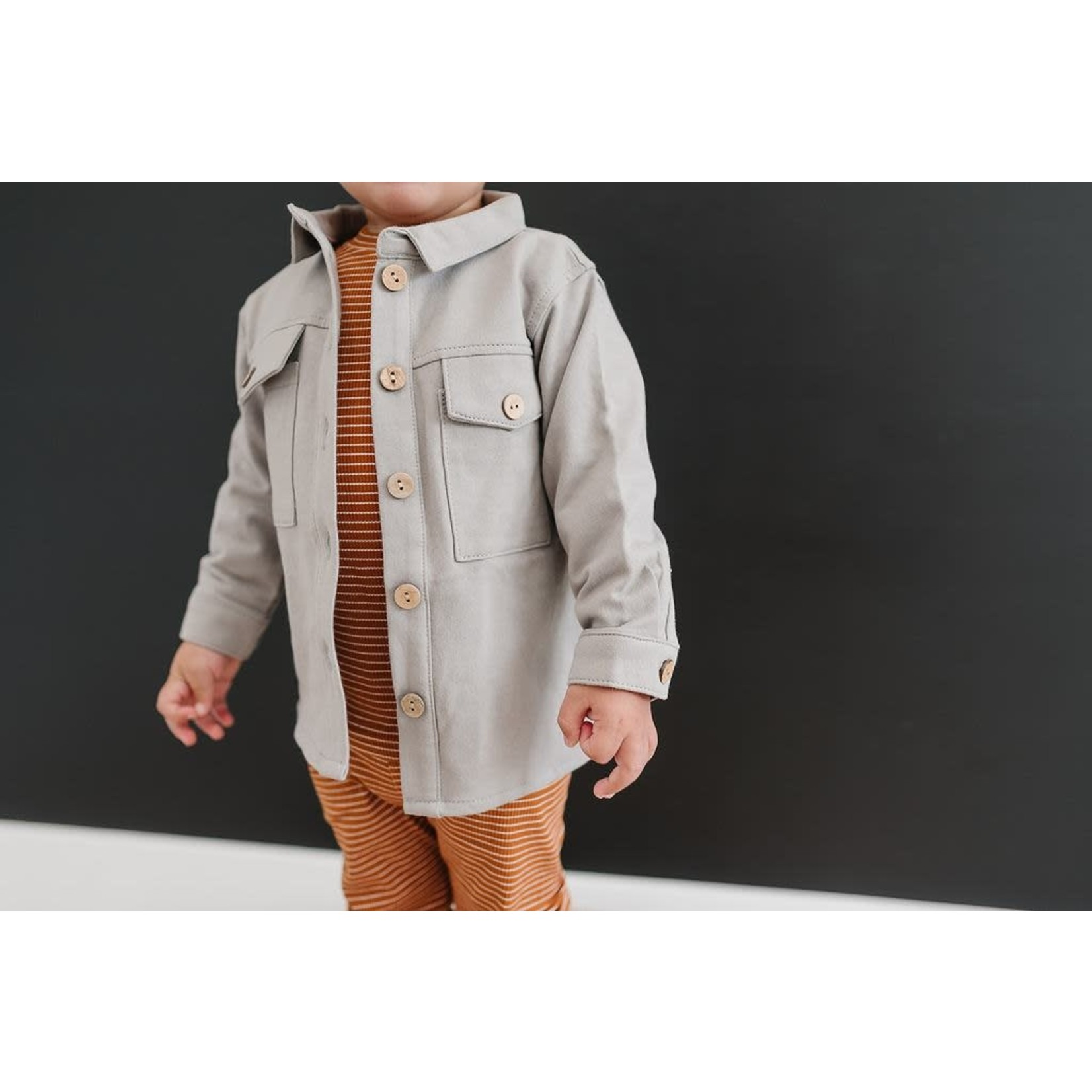 Mebie Baby Grey French Terry Shacket