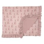Kickee Pants Print Ruffle Stroller Blanket Baby Rose Ballet