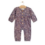 City Mouse Button Gathered Romper - Multi Floral