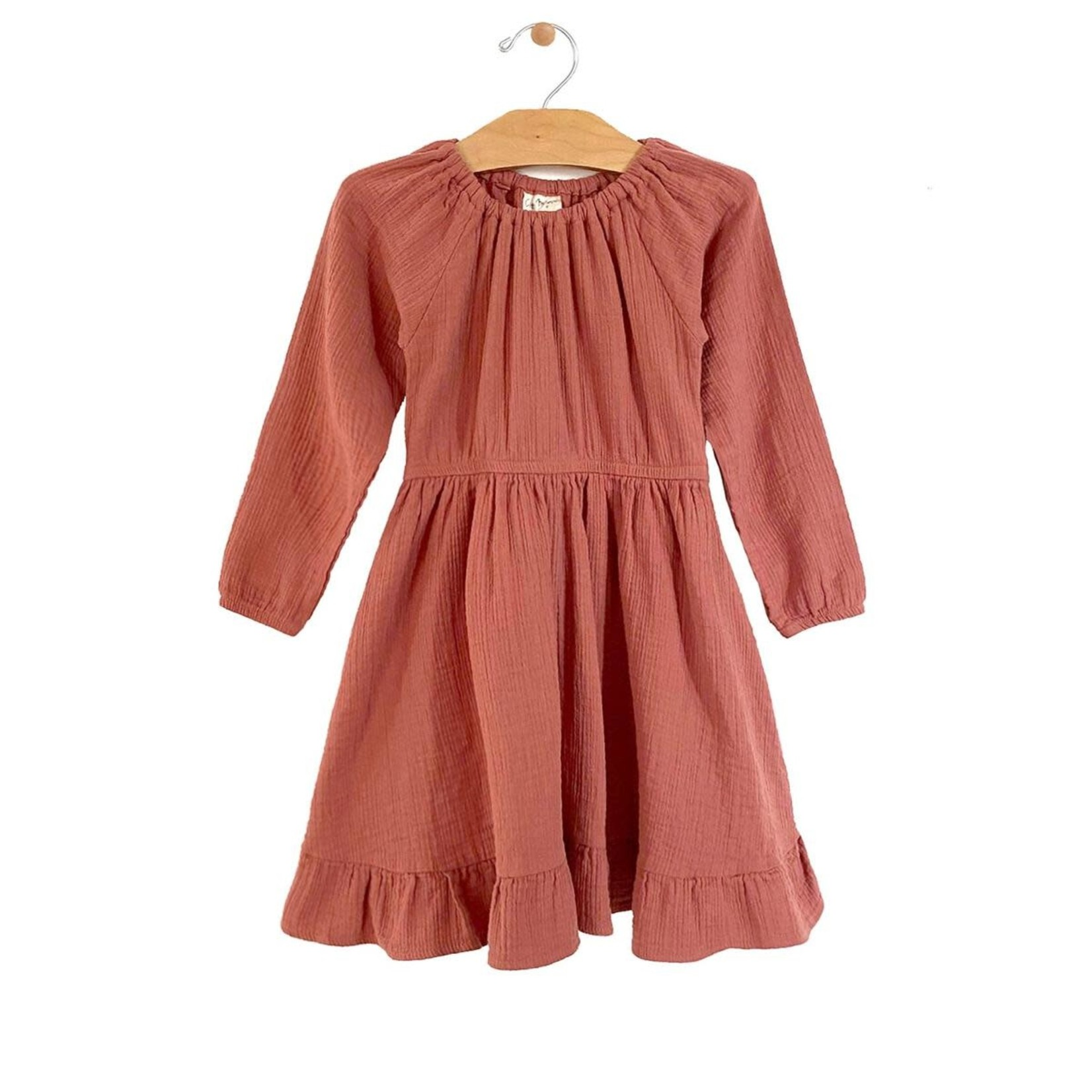 City Mouse Gathered Dress - Ember