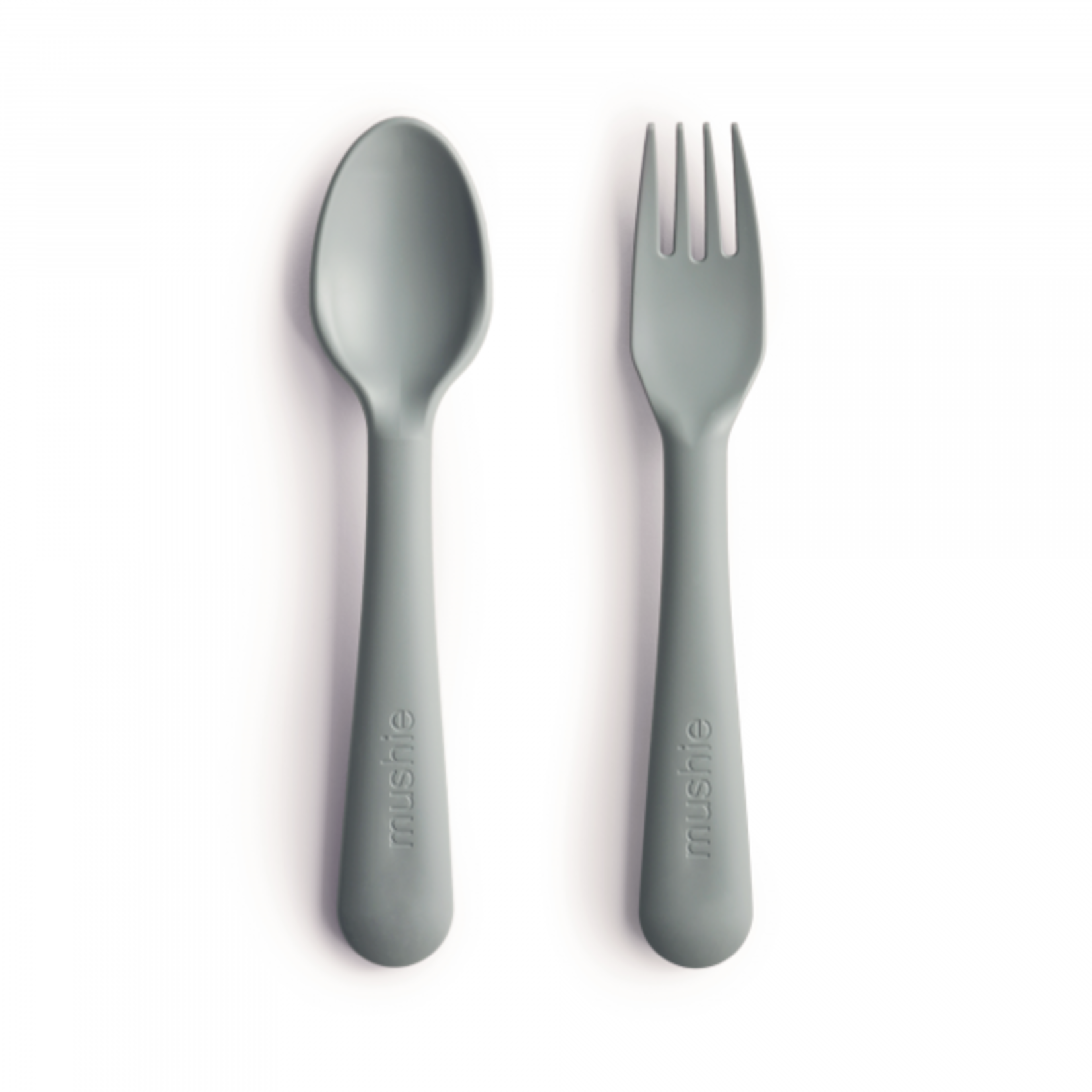 Mushie & Co Fork and Spoon Set - Sage