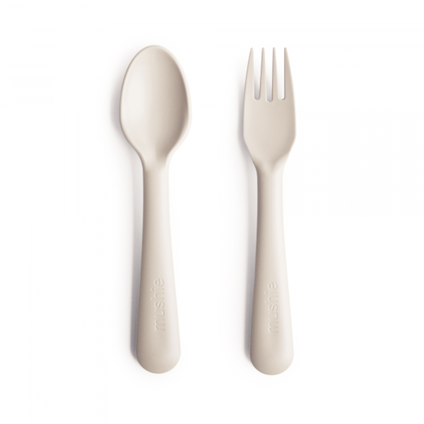 Mushie & Co Fork and Spoon Set - Ivory