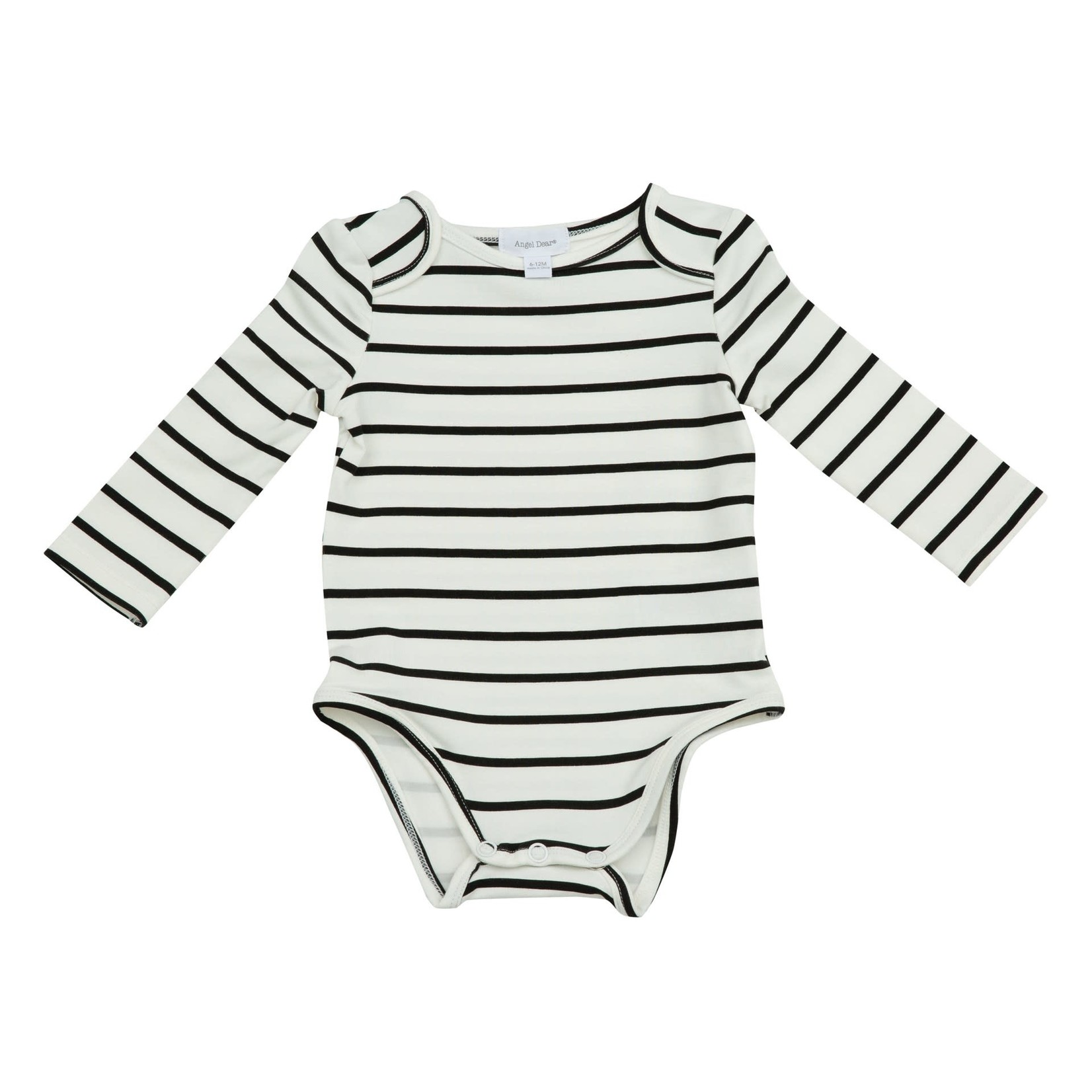 Angel Dear Black White Stripes Bodysuit