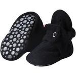 Zutano Cozie Fleece Gripper Bootie - Black
