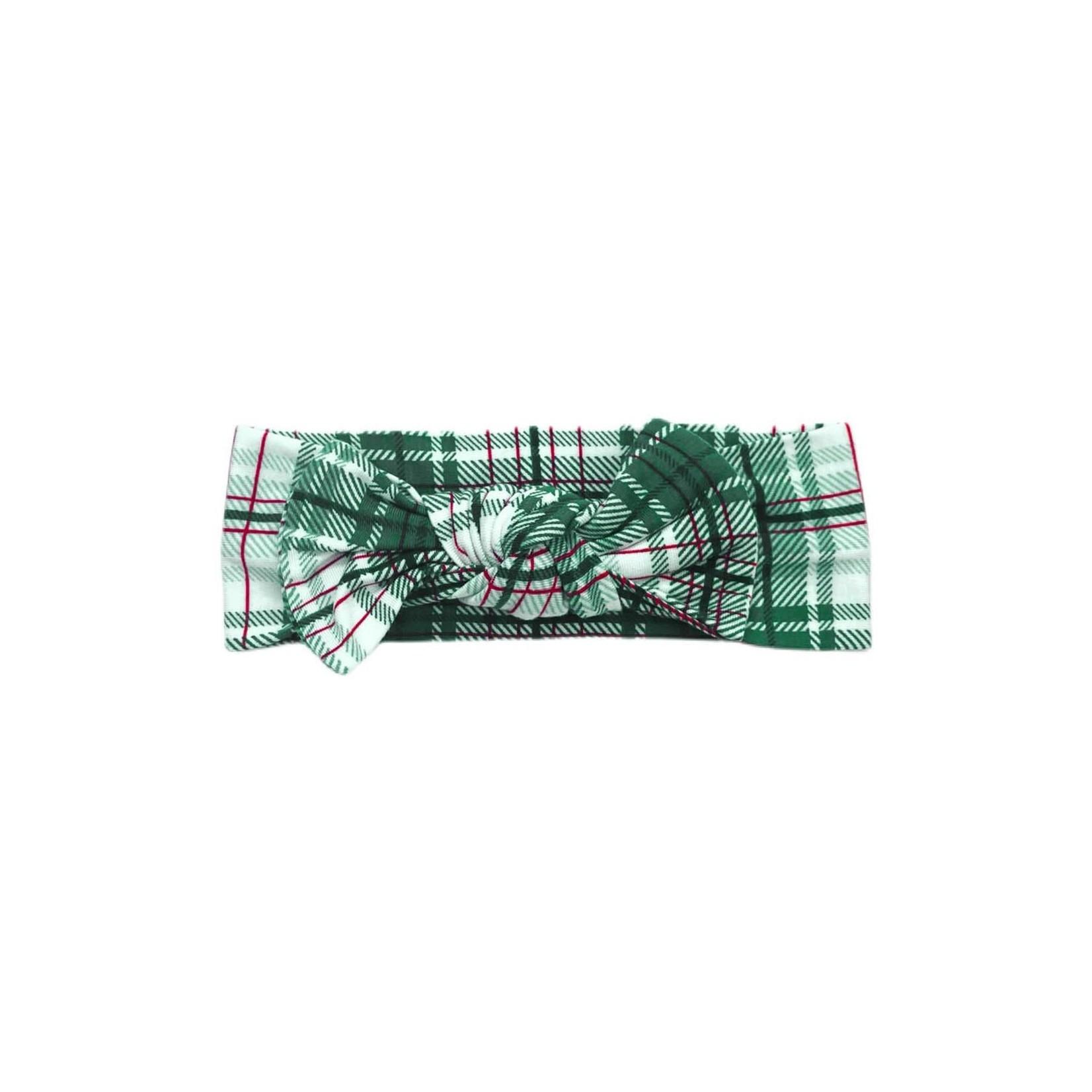 Little Sleepies Headband - Noel Plaid