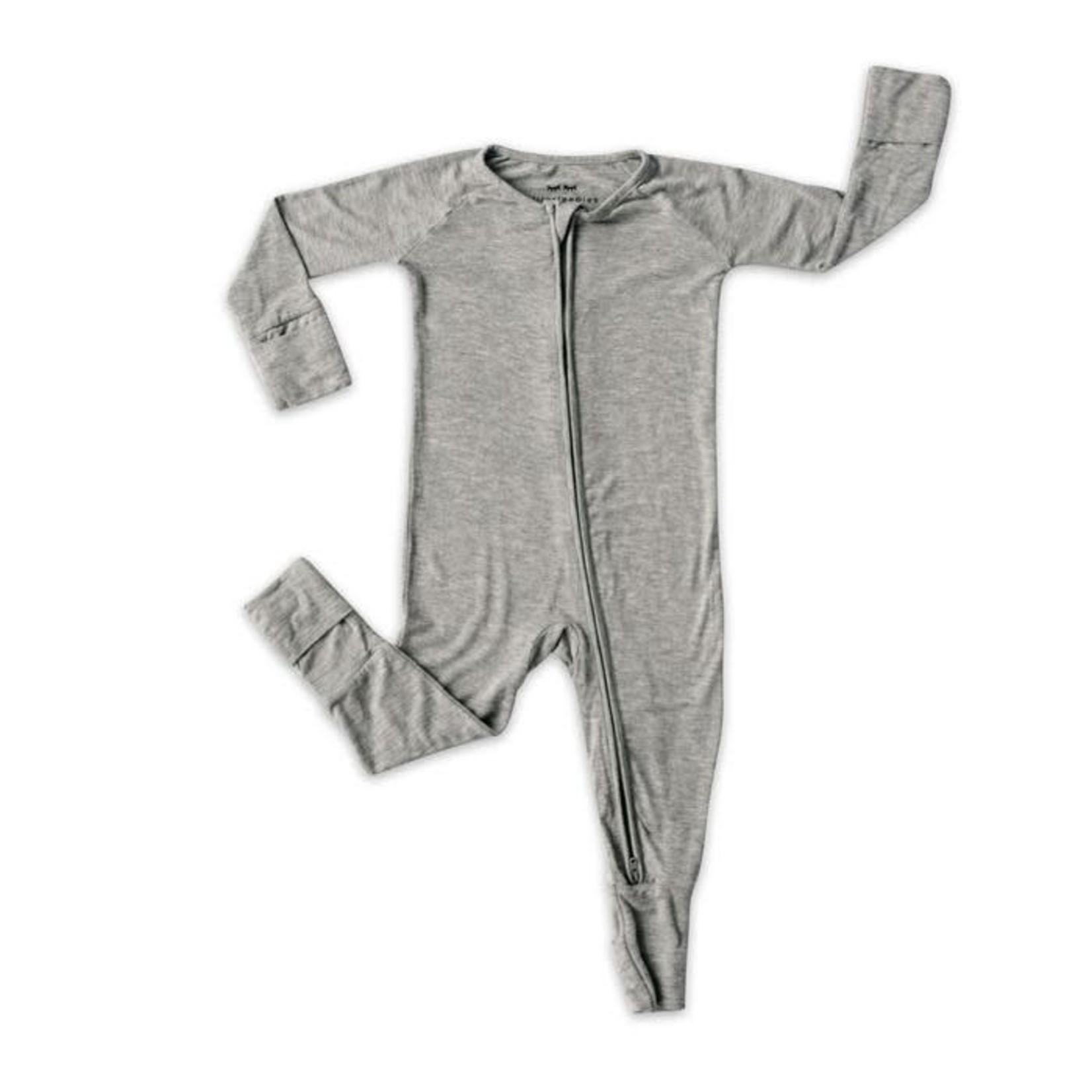 Little Sleepies Convertible Romper/Sleeper Heather Gray 6-12M
