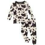 Kickee Pants Print Long Sleeve Pajama Set Cow Print