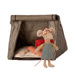 Maileg Happy Camper Tent + Big Sister Hiker Mouse