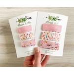 Macie & Me Pink Pebble, Ice Cream, Sprinkle Snap Clip Set
