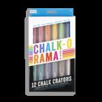 Ooly Chalk-O-Rama Chalk Crayons - Set of 12