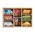Mud Pie Boxed Wood Car Set